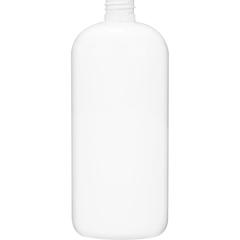 32 oz. White PET Plastic Boston Round  Bottle, 28mm 28-410