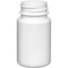 2 oz. (60 cc) White PET Plastic Packer Bottle, 33mm 33-400