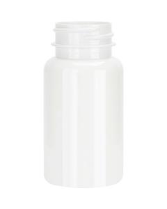2.5 oz. (75 cc) White PET Plastic Packer Bottle, 33mm 33-400