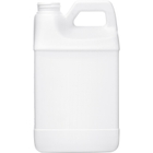 1/2 Gallon White HDPE Plastic F-Style Bottle, 38mm 38-400
