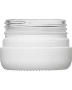 2 oz. White Straight Sided Glass Jar, Thick Wall, 53mm 53-400