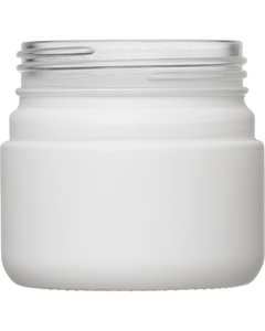 3 oz. White Straight Sided Glass Jar, Thick Wall, 53mm 53-400