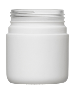 4 oz. White Straight Sided Glass Jar, Thick Wall, 53mm 53-400
