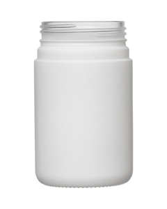 6 oz. White Straight Sided Glass Jar, Thick Wall, 53mm 53-400