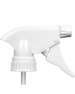 """Value White Trigger Sprayer, 9-1/10"""" Dip Tube, 28mm 28-400"""