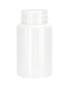 3.5 oz. (100 cc) White PET Plastic Packer Bottle, 38mm 38-400