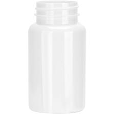 4 oz. (120 cc) White PET Plastic Packer Bottle, 38mm 38-400