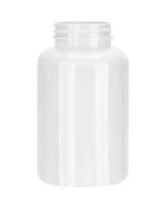 10 oz. (300 cc) White PET Plastic Packer Bottle, 45mm 45-400