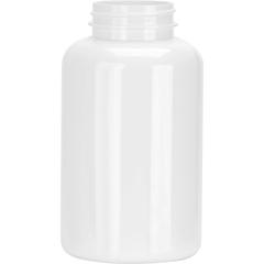 13.5 oz. (400 cc) White PET Plastic Packer Bottle, 45mm 45-400