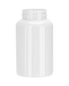 16 oz. (500 cc) White PET Plastic Packer Bottle, 53mm 53-400