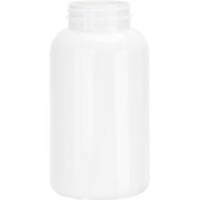 21 oz. (625 cc) White PET Plastic Packer Bottle, 53mm 53-400