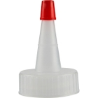 28mm 28-400 Natural Spout Cap with Red Sealer Tip