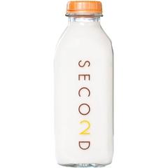 32 oz. Printed Square Quart Glass Milk Bottle