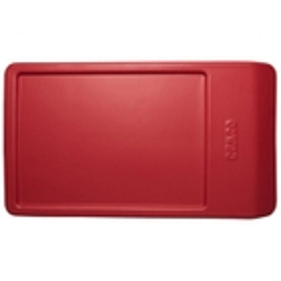 Plastic Red Lid for Angled Dump Tub