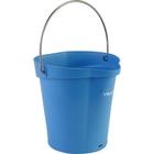 1.5 Gallon Blue Plastic Pail w/Spout, Stainless Steel Handle