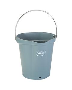 1.5 Gallon Gray Plastic Pail w/Spout, Stainless Steel Handle