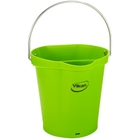1.5 Gallon Lime Green Plastic Pail w/Spout, Stainless Steel Handle