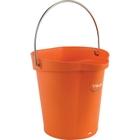 1.5 Gallon Orange Plastic Pail w/Spout, Stainless Steel Handle