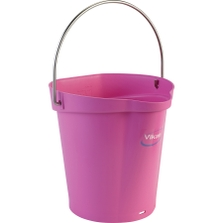 1.5 Gallon Pink Plastic Pail w/Spout, Stainless Steel Handle