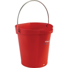 1.5 Gallon Red Plastic Pail w/Spout, Stainless Steel Handle