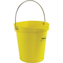 1.5 Gallon Yellow Plastic Pail w/Spout, Stainless Steel Handle