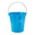 3 Gallon Blue Plastic Pail w/Spout, Stainless Steel Handle