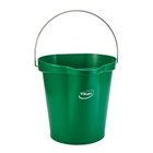 3 Gallon Green Plastic Pail w/Spout, Stainless Steel Handle
