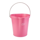 3 Gallon Pink Plastic Pail w/Spout, Stainless Steel Handle