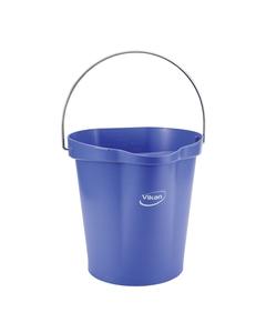 3 Gallon Purple Plastic Pail w/Spout, Stainless Steel Handle