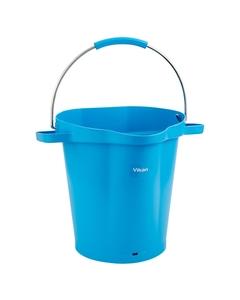 5 Gallon Blue Plastic Pail w/Spout, Stainless Steel Handle