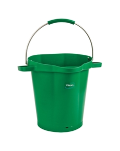 5 Gallon Green Plastic Pail w/Spout, Stainless Steel Handle
