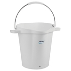 5 Gallon White Plastic Pail w/Spout, Stainless Steel Handle