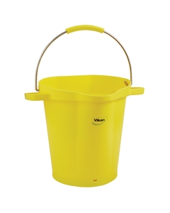 5 Gallon Yellow Plastic Pail w/Spout, Stainless Steel Handle