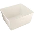 White Aero-Tote Plastic Tub w/Drain Plug