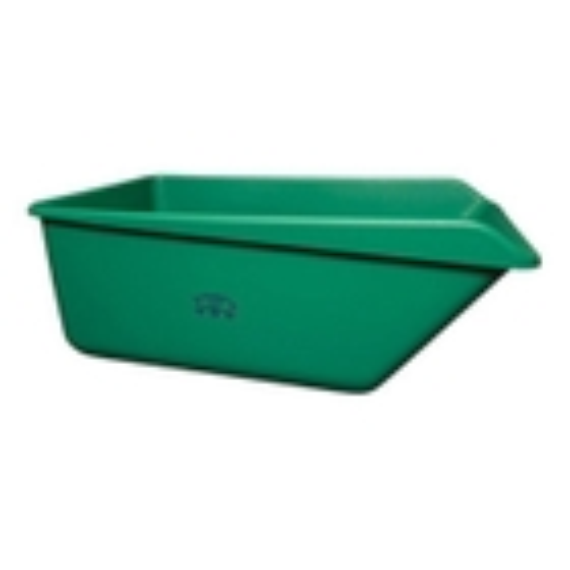 Green HDPE Plastic Angled Dump Tub