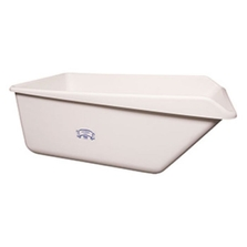 White HDPE Plastic Angled Dump Tub