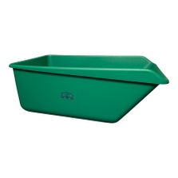 Green HDPE Plastic Angled Dump Tub w/Drain Plug