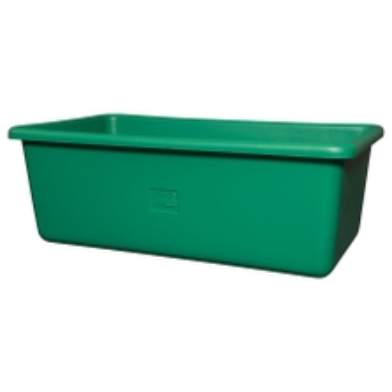 Green HDPE Plastic Transport Storage Tub