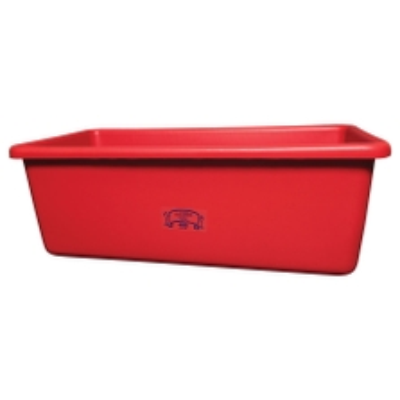 Red HDPE Plastic Transport Storage Tub