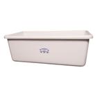 White HDPE Plastic Transport Storage Tub
