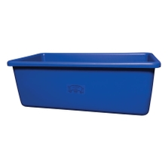 Blue HDPE Plastic Transport Storage Tub w/Drain Plug