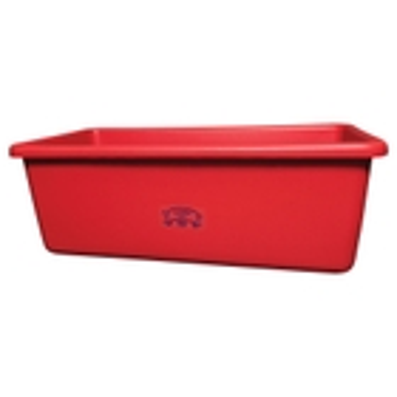 Red HDPE Plastic Transport Storage Tub w/Drain Plug