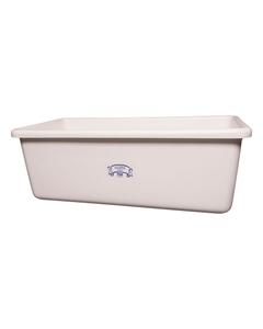 White HDPE Plastic Transport Storage Tub w/Drain Plug