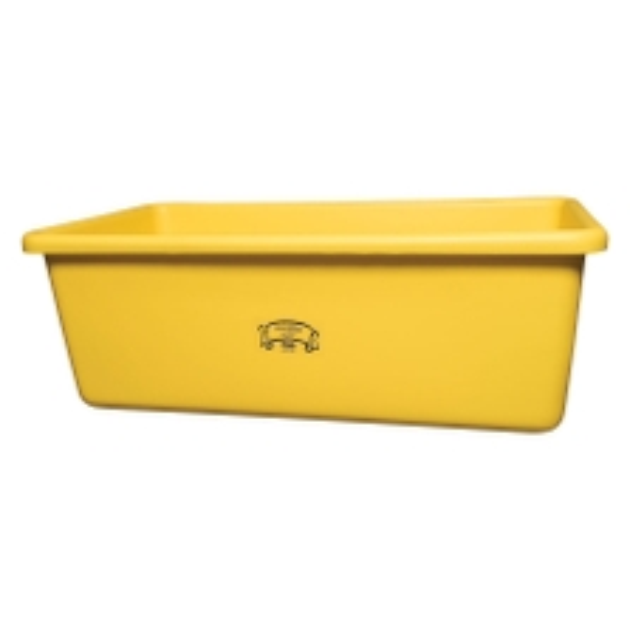 Yellow HDPE Plastic Transport Storage Tub w/Drain Plug