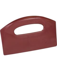 Red Plastic Bench Scraper, Metal Detectable (Tools)