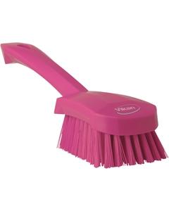 "Pink Short-Handled Scrubbing Churn Brush, 9.8"" Length (Tools)"