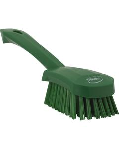 "Green Short-Handled Scrubbing Churn Brush, 9.8"" Length (Tools)"