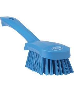 "Blue Short-Handled Scrubbing Churn Brush, 9.8"" Length (Tools)"