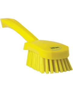 "Yellow Short-Handled Scrubbing Churn Brush, 9.8"" Length (Tools)"