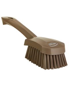 "Brown Short-Handled Scrubbing Churn Brush, 9.8"" Length (Tools)"